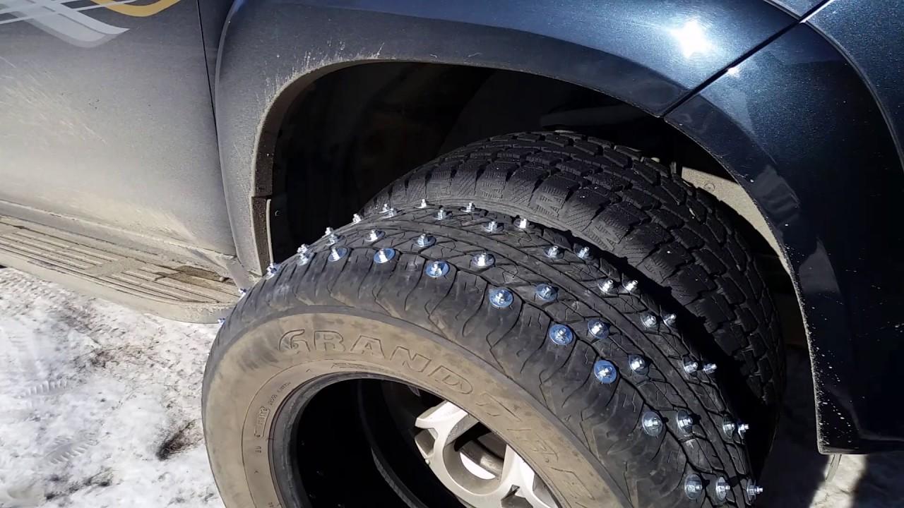 Шипованные колеса на Прадо