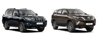 Тойота Фортунер и Тойота Прадо 2018