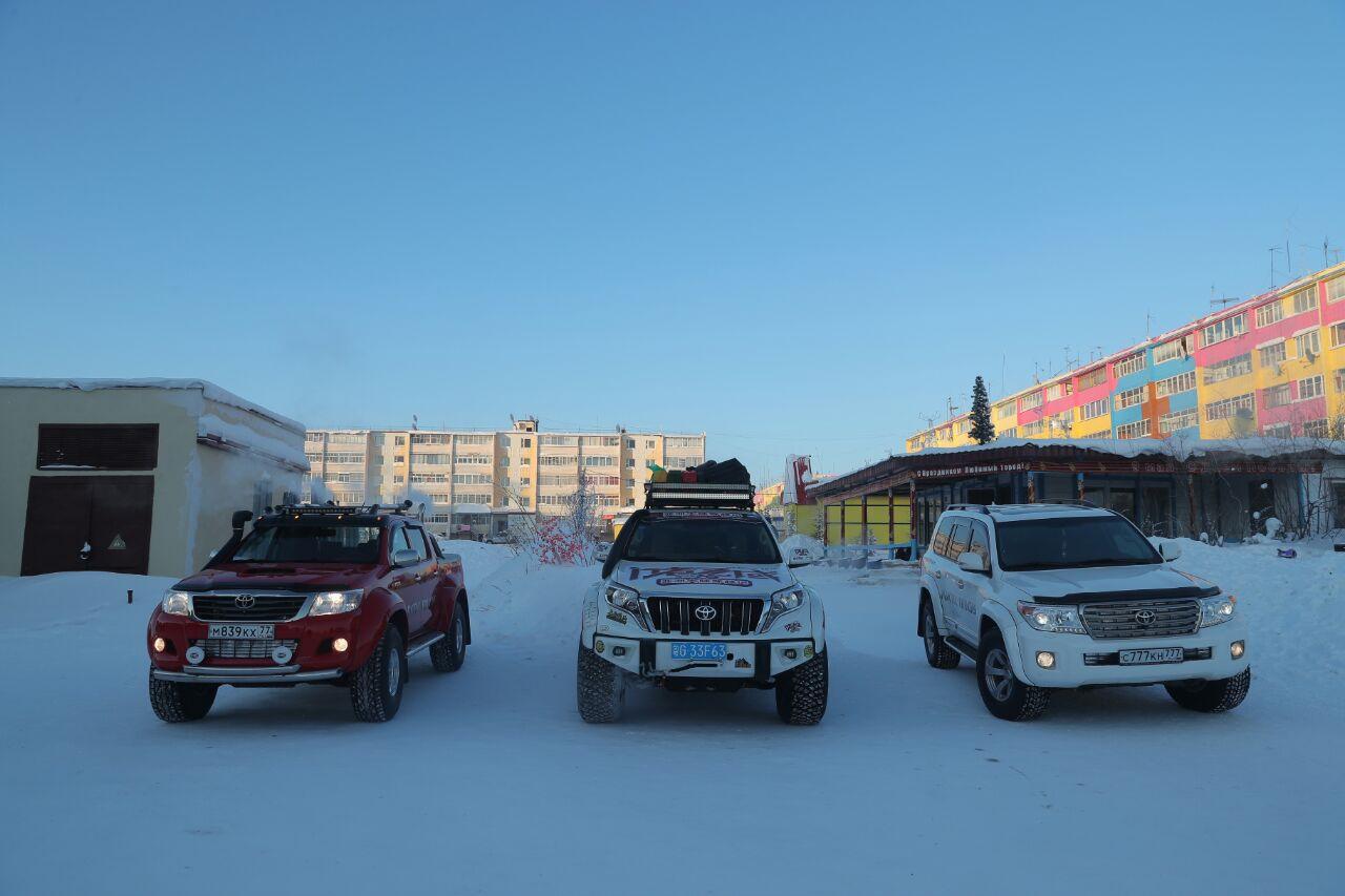 Три модели Прадо арктик трак