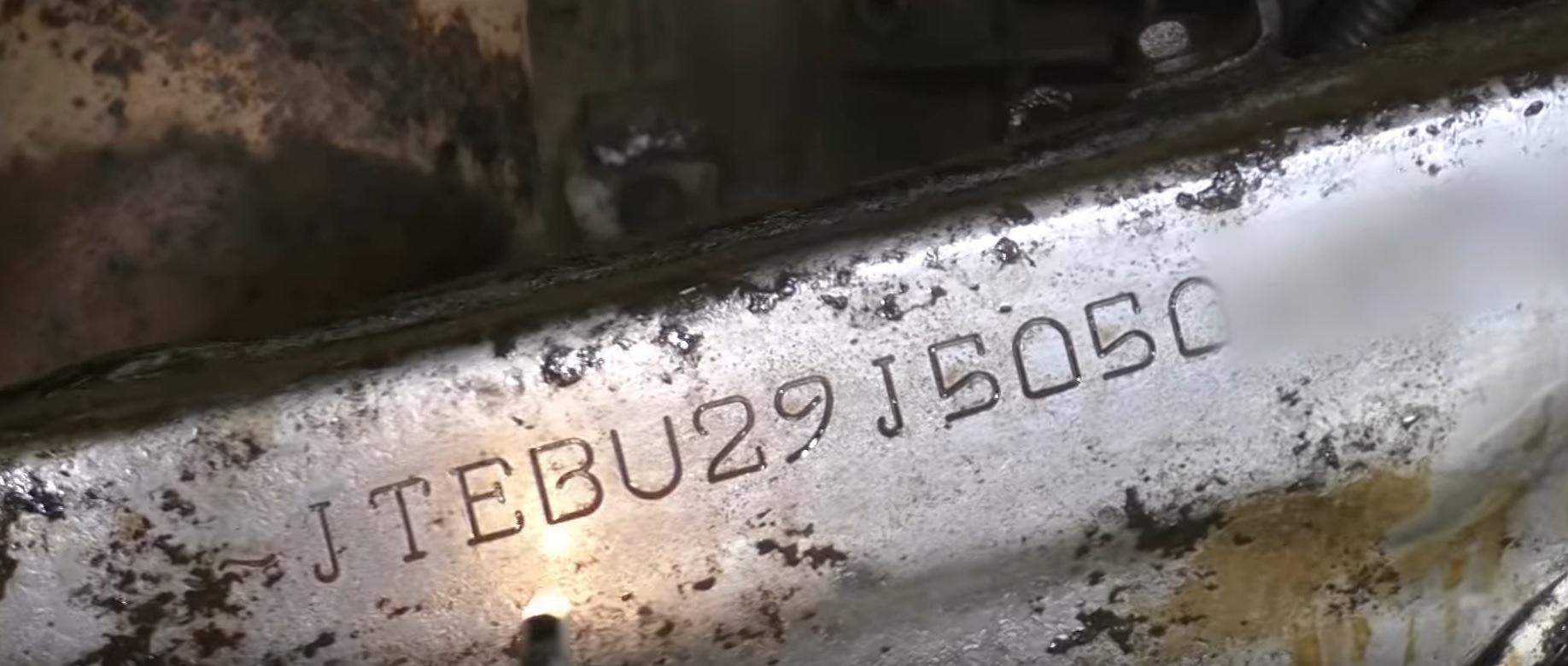 номер двигателя тойота