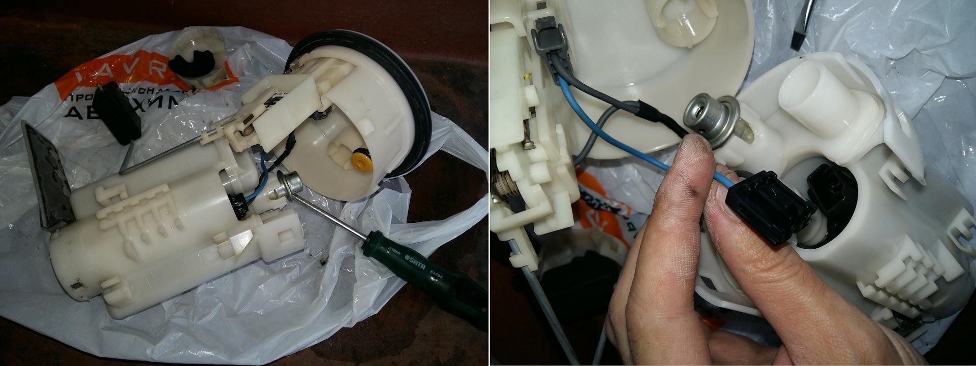 замена топливного фильтра тойота