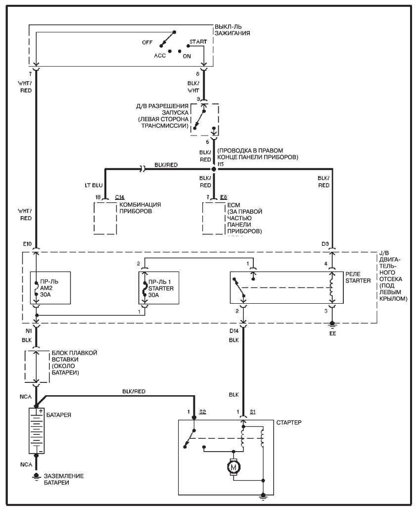 Схема системы запуска двигателя ленд крузер 100