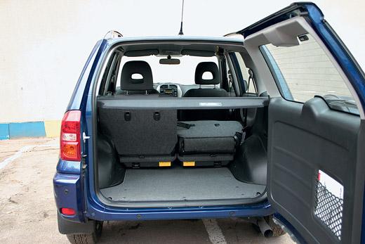 Размер багажника Тойоты Рав 4 разных годов