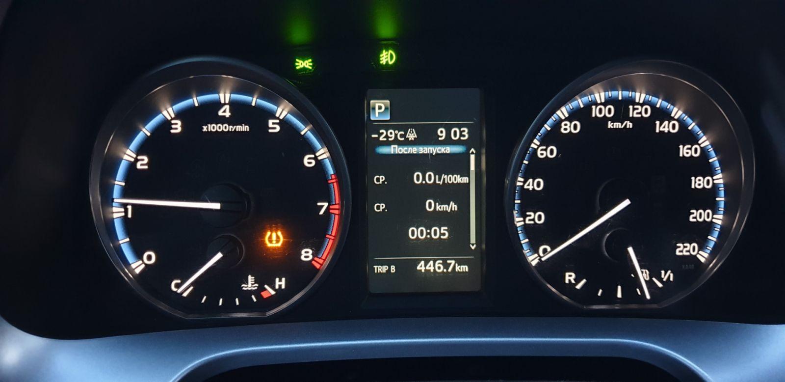 Система контроля давления в скатах Toyota RAV 4